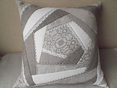 Decorative throw pillow organic linen grey gray by IrenGarden, $58.00