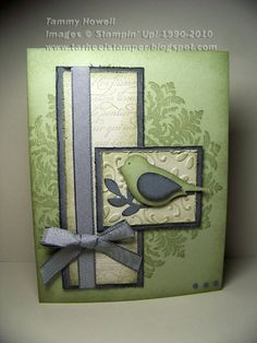 Stampin' Up! Medallion Bird Card by bethany