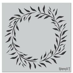 This easy-to-use Wreath Eucalyptus Repeat Pattern Stencil from is perfect for walls, home decor, clothing and more. Each stencil is cut high quality in order to provide a long lasting design. Wood Burning Stencils, Wood Burning Crafts, Wood Burning Patterns, Tree Stencil, Star Stencil, Monogram Stencil, Floor Stencil, Printable Stencil Patterns, Free Svg