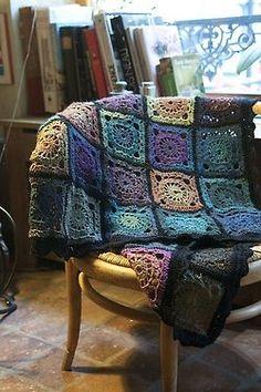 Crochet Afghan Patterns Ravelry: Bohemian Oasis pattern by DROPS design - Crochet Motifs, Granny Square Crochet Pattern, Afghan Crochet Patterns, Crochet Squares, Crochet Granny, Easy Crochet, Free Crochet, Granny Squares, Crochet Afghans
