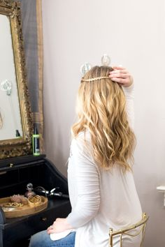The perfect hairstyle for the flower child within us all? Beachy waves– they're the best way to complete your boho look! Go for a natural feel and add texture by using sea salt spray from jcp salon. Then tie it all together with braids around the crown of your head. It's a quick 'do that's #SoWorhIt.