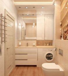 meubles salle de bain blanc laqué, range serviette en acier et carrelage sol aspect bois #Ranges