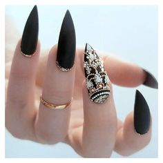 36 Fab Ideas for Stiletto Nails Designs Create Your Look ❤ liked on Polyvore featuring nails