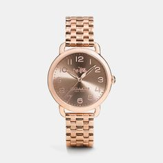 Delancey 36mm Rose Gold Plated Bracelet Watch | Coach