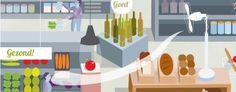 De Superlokker. Had je dit kunnen bedenken? Fruit en groente liggen vooraan in de supermarkt, want als je eerst gezonde sinaasappels koopt, gooi je daarna niet gehinderd door enig schuldgevoel je kar vol met snoep en wijn. Alles over de psychologie van ons koopgedrag en de trucs van de supermarktmanagers.
