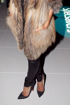 fab fur, fab heels.