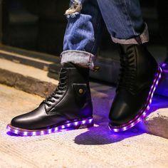 APP Control High Top LED shoes flat Unisex Luminous Light Up tenis led Shoes men Leisure Casual Sneakers Unisex Hot Fashion Shoe