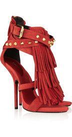 Giuseppe ZanottiFringed studded suede sandals