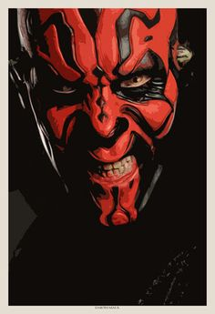 Darth Maul art... In his typical bad ass self.  (A disgrace to kill him off so early.)