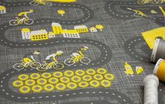 Bike fabric available at Spoonflower