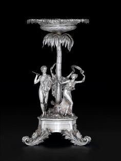 A Fine George III silver centerpiece,  John Bridge for Rundell, Bridge, and Rundell, London, 1809-10 #FreemansAuction