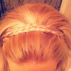 Double braid headband.