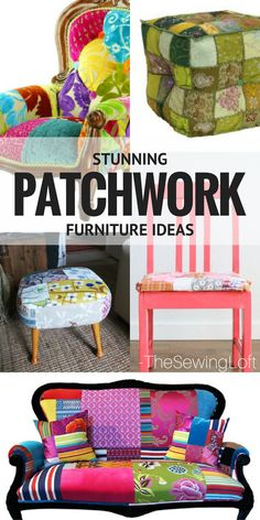 Patchwork furniture can take an everyday item and turn it into the showstopper of your space. Learn how and get inspired with these creative ideas.