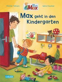 Max geht in den Kindergarten. von Christian Tielmann, Sabine Kraushaar Hurra! Endlich kommt Max in den Kindergarten. Im Sitzkreis singen die Kinder ein lustiges Morgenlied. Max malt eine riesige Ritterburg, spielt drinnen und draußen, isst Nudeln mit Tomatensoße, ruht sich in der Kuschelecke aus – und viel zu früh ist Mama da, um ihn wieder abzuholen. Eine fröhliche Bilderbuchgeschichte mit vielen Informationen rund um den Kindergarten – eine prima Vorbereitung für Kinder und Eltern.