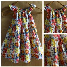 It may be a bit snowy in these parts but Spring is coming soon!  This cotton Peasant Style Sundress is ready!  Girls size 6