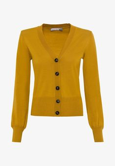 HALLHUBER Gilet - safran - ZALANDO.CH Sweaters, Material, Products, Fashion, Elastic Waist, Cashmere Wool, Yellow, Men Styles, Cut Shorts