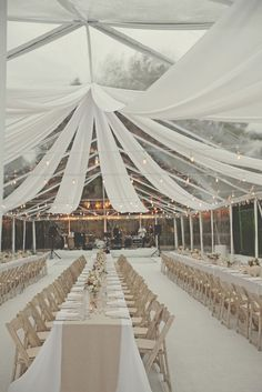 Clear tent and drapes. beautiful