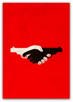 Anti-racism poster by Angelos Ntinas, via Behance