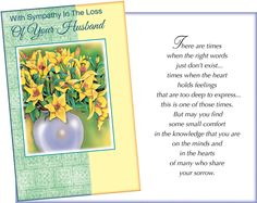 119 best grief and sympathy sayings images on pinterest grief loss of husband sympathy greeting card m4hsunfo