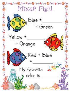 Clip art, fonts, school supplies, activities, digital scrapbooking & more by dianne j hook! Preschool Colors, Teaching Colors, Creative Teaching, Teaching Art, Art Handouts, Art Worksheets, Ocean Crafts, Rainbow Fish, Diy School Supplies