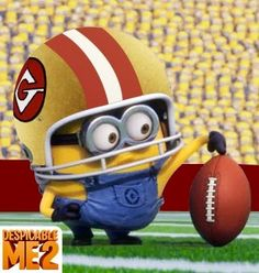 Minion football player via www.Facebook.com/DespicableMe