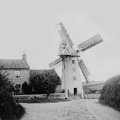 England  1890 Stow mill, situated on Stow Hill in Paston on the coast road near Mundesley,