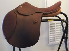 """Hermes Oxer Jumping Saddle - 16.5"""" seat - Standard Tree - Good Condition #Hermes"""