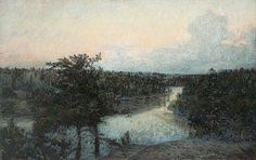"PRINS EUGEN, ""Det klarnar"" (Skies clear, scene from Tyresö). 1904."