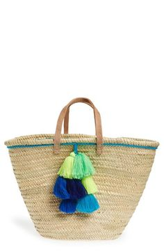 House of Perna 'Remy' Woven Straw Tote available at #Nordstrom
