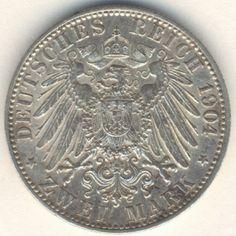 German States - Bremen free city Zwei mark 1904 J - excellent