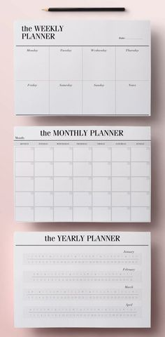 Planner Printable A5 Pack 13 Modern Organizer Pages including