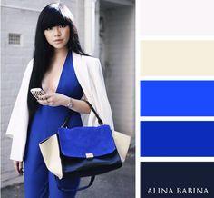 Azul con beige