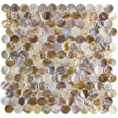 Merola Tile Conchella Penny Natural 12-1/4 in. x 12-1/4 in. x 3 mm Natural Seashell Mosaic Tile-GDXCPNN - The Home Depot