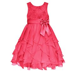 Girls 7-16 American Princess Corkscrew Ruffle Dress