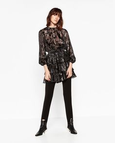 LONG SLEEVE MINI DRESS WITH LAYERED SKIRT-NEW IN-WOMAN | ZARA United States