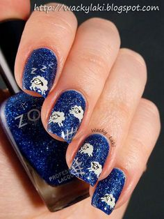 Decorating your fingernails or toenails is usually lots of fun. It will make a fashion statement. Check out the most recent trends and designs to keep you up to speed. Perfect Nails, Gorgeous Nails, Pretty Nails, Amazing Nails, Simple Nail Art Designs, Easy Nail Art, Nail Designs, Lily Nails, Blue Nails