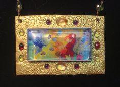 Celtic Goddess Saint Brigid's Fire Pendant by ArtsofAvalonJewelry, $70.00
