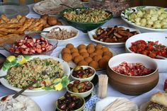 finger food buffet photos | Hot and cold food, whole salmon, meats, salads, desserts- whatever ...