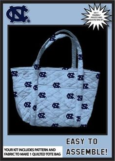 University of south carolina do it yourself college tote bag kit university of north carolina tarheels quilted tote bag kittailgatingcollege kit buy now solutioingenieria Image collections