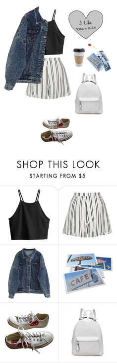"""""""morning in the café"""" by djulia-tarasova ❤ liked on Polyvore featuring H&M, Topshop, Bob's Your Uncle and Converse"""