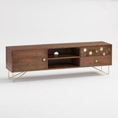 Wood Hexagon and Gold Inlay Hairpin Natasha Cabinet: Brown - Metal by World Market Media Furniture, Kids Bedroom Furniture, Ikea Furniture, Furniture Sale, Outdoor Furniture, White Furniture, Rustic Furniture, Antique Furniture, Furniture Storage