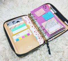 Minute keep the time workout by color coding, Kate Spade Planner Setup Kate Spade Planner, Kikki K Planner, Life Planner, Happy Planner, Planner Ideas, Filofax, Planning And Organizing, Planner Organization, Planner Dashboard