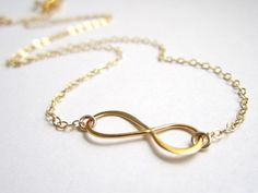Gold Infinity Necklace Gold figure 8 eternity by Keepitclose, $27.00