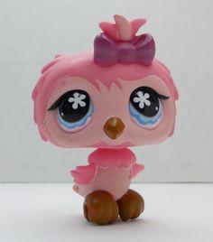 Littlest Pet Shop Pink Owl #496 loose
