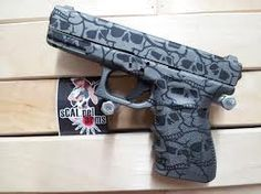 Glock Cerakote by Scalpel Arms. Glock Girl, Glock Accessories, Cool Guns, Guns And Ammo, Firearms, Hand Guns, 2nd Amendment, Skulls, Bang Bang