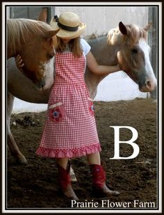 Cute farm girl LOVE pink and red!