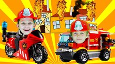 Fire Truck Cartoon for Kids | Fire Truck | Little Heroes Fireman Kids to...