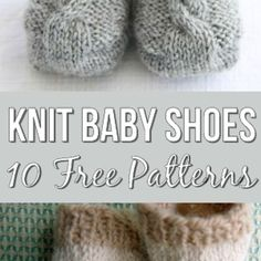 10 Free Knitting Patterns For Baby Shoes - The Most Adorable Baby Booties! - 10 Free Knitting Patterns For Baby Shoes – The Most Adorable Baby Booties! Baby Knitting Patterns, Knitting For Kids, Knitting Socks, Baby Patterns, Free Knitting, Knitting Projects, Knitting Ideas, Finger Knitting, Scarf Patterns