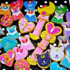 moeniwa's Instagram posts | sailor moon icing cookies