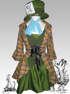 Girly twist on the mad hatters costume from the Tim Burton Alice in wonderland…